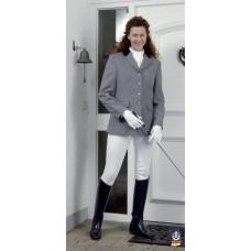Dámské jezdecké sako šedé s paspulí a velikosti 44