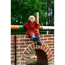 Dětský jezdecký kabát  z durapel materíálu na 4 let v červené barvě