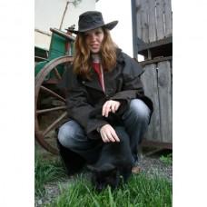 Grazier jacket, Australská nepromokavá bunda v hnědé barvě a z oil-skin materiálu o velikosti 3 /36-38/