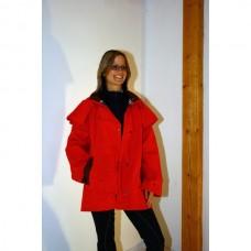 Grazier jacket, Australská nepromokavá bunda  v rudé barvě a velikosti 4 /38-40/