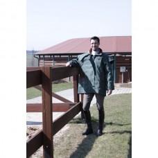 Grazier jacket, Australská nepromokavá bunda s koženým límcem v zelené barvě a velikosti 5 /40-42/