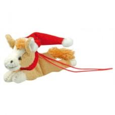 Plyšový koník-vánoční-ležící