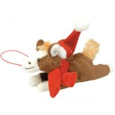 Plyšový koník-ležící-vánoční