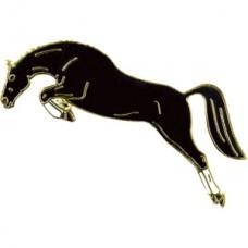 Brož- kůň ve skoku, brož pro upevnění kravaty pro jezdce na koni