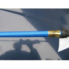 Jezdecká tušírka, drezurní bič s koženou rukojetí v modré barvě a velikosti 110cm