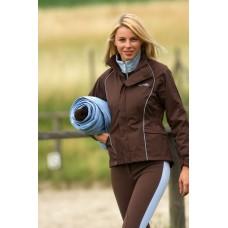 Výprodej, jezdecká nepromokavá bunda Antibes-čokoládová-L