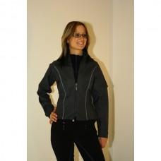 Jezdecká nepromokavá dámská bunda C.S.O v šedé barvě a velikosti 38