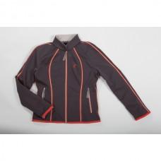 Softshell jezdecká bunda Sydney-olivová s kontrast.pásky-L