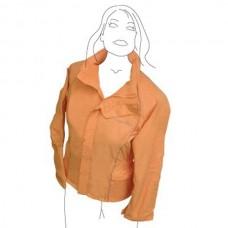Výprodej, jezdecká nepromokavá bunda Antibes-oranžová-S