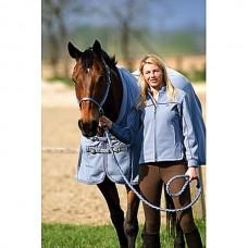 Jezdecká bunda softshell-modrá-L