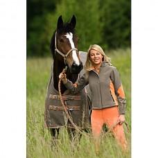 Jezdecká softshell bunda Julia-béžovooranžová-S