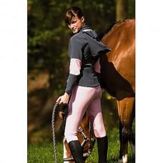 Jezdecká softshell  bunda Julia-šedo/růžová-S