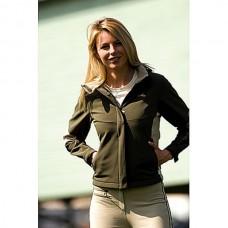 Soft shell sportovní, jezdecká bunda Julia v khaki barvě a velikosti XL