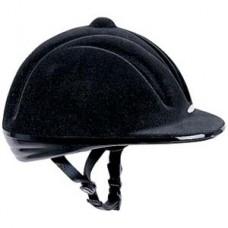 Přilba, helma  pro jezdce na koni se samet povrchem a velikosti natavitelnou