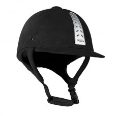 Přilba, helma pro jezdce na koni tříbodová se samet povrchem od  Horze
