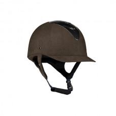 Jezdecká přilba od značky Hoze v hnědé barvě a velikosti 57