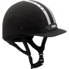 Přilba, helma  pro jezdce na koni od Horka černábarva/stříbrný pruh