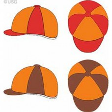 Potah na přilbu pro jezdce-oranžovohnědý