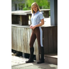 Jezdecké dámské kalhoty Pro s celokoženým sedem