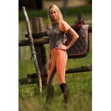 Jezdecké dámské kalhoty,rajtky BADEN v oranžové barvě