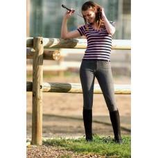 Jeansové jezdecké dámské kalhoty v modré barvě  a velikosti 46