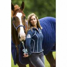 Jezdecká fleesová bunda Dolce  - modrá