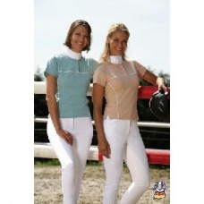 Dámské jezdecké tričko-béžové-S