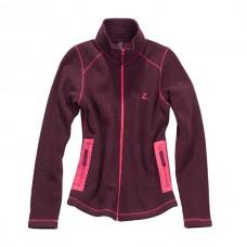Mikina pro jezdce na koni, sportovní mikina od značky HORZE ve vínové barvě a velikosti 36 na zip, výprodej