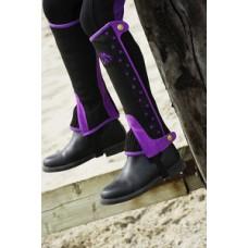 Minichaps  pro jezdce na koni od značky AWA , kombinace  elastanu +  umělá kůže ve velikosti XXS