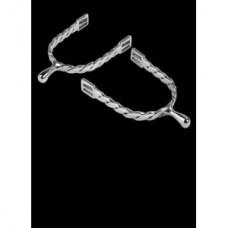 Ostruhy, šporny pro jezdce na koni-pánské - délka krčku 20 mm nerezové s točenými rameny