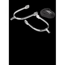 Ostruhy pro jezdce na koně s nylonovými řemínky a krátkým krčkem