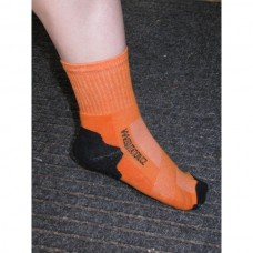 Ponožky  bavlněné pro jezdce na koni s logem Equitation v oranžové barvě a velikosti 43-46