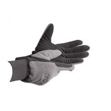 Jezdecké rukavice zimní unisex, fleesové s kůží na dlani