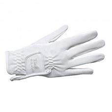 Dámské  jezdecké rukavice z umělé kůže v khaky barvě a velikosti XS