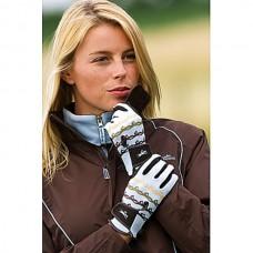 Jezdecké rukavice  v modrohnědé barvě a velikosti L
