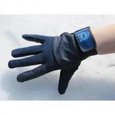 Unisex jezdecké rukavice pánské i dámské z umělé kůže a v modro černé barvě