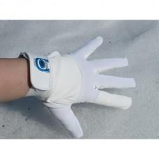 Unisex jezdecké rukavice pánské i dámské z umělé kůže a v bílé barvě
