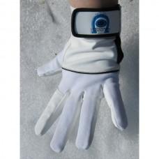 Unisex jezdecké pánské i dámské  rukavice, elastické  v kombinaci s uměloukůží  v bíločerné barvě