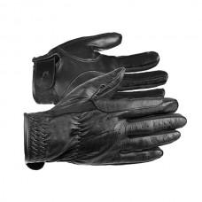 Jezdecké rukavice kožené v černé barvě a velikosti L