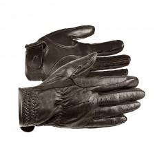 Jezdecké rukavice kožené v hnědé barvě a velikosti M