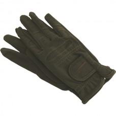 Dámské jezdecké rukavice Horka z umělé kůže,sametová úprava