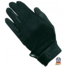 Jezdecké rukavice bavlněné s protiskluzovu dlaní v černé barvě