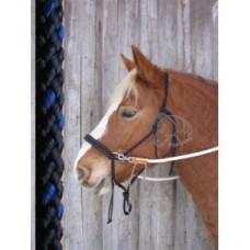 Jezdecká provazová ohlávka na koně, bezudidlová uzdečka na koně