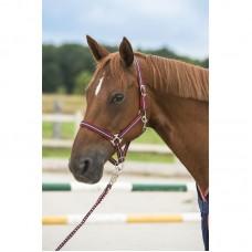 Nylonové ohlávka na koně v barvě modro/červená, velikost cob