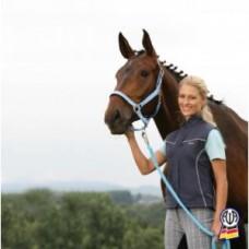 Ohlávka na koně Satin v modré barvě