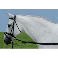 Vyvazovací,kožené otěže na pony koně - černé ve velikosti pony
