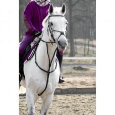 Poprsák kožený ,černý na koně od Horte a velikosti full