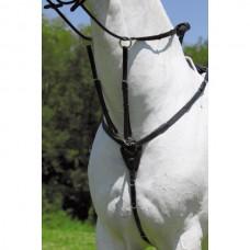 Poprsák na koně X - line pro koně  v černé barvě a velikosti full