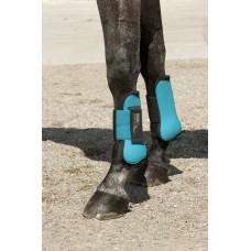 Sada skokových chráničů na nohy koně, velikost Full, v modré barvě