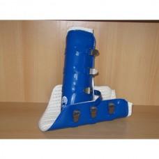 Zadní uzavřené celoobvodové skokové chránniče omyvatelné v modré barvě a velikosti 1/ odpovídá pony - cob velikosti/ od značky Gera